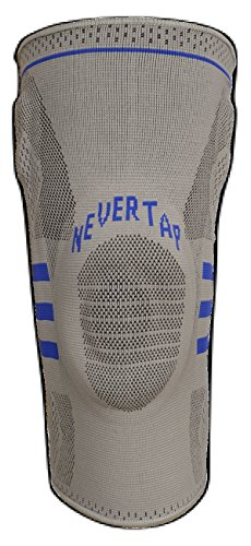 NEVERTAP Best Knee Guard for BJJ, MMA and Grappling. Superior MCL and ACL Protection. Shock Resistant (Medium)