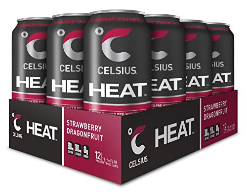 CELSIUS HEAT Strawberry Dragonfruit Performance Energy Drink, ZERO Sugar, 16oz. Can, 12 Pack by CELSIUS (Image #4)
