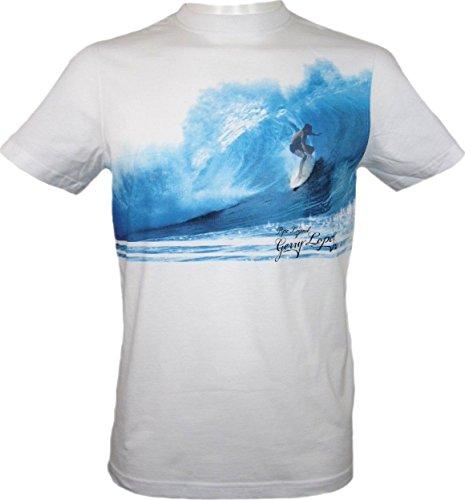 T-Shirt/Surfershirt Gerry Lopez weiss-blau
