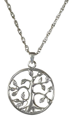 Memorial Gallery 3719s Tree of Life Sterling Silver Cremation Pet Jewelry by Memorial Gallery