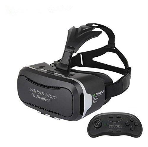 Click to buy VR Headset Vr Glasses Vr glasses with bluetooth vr controller for smartphone (Version 2 with controller) - From only $39.9