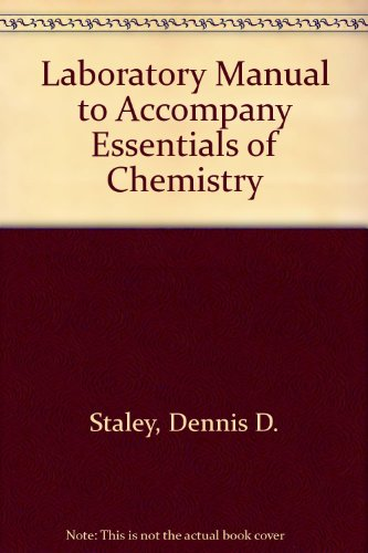 Laboratory Manual to Accompany Essentials of Chemistry