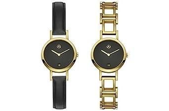 Mercedes-Benz - Armbanduhr - Damen gold - schwarz - Edelstahl