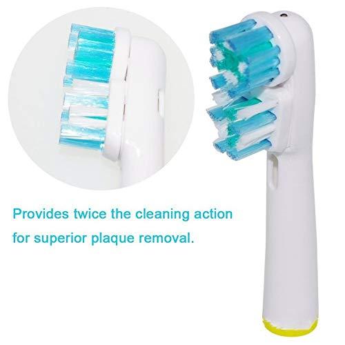 8Eninite Testina di Ricambio per spazzolino per testine Braun Oral B a Doppia Pulizia