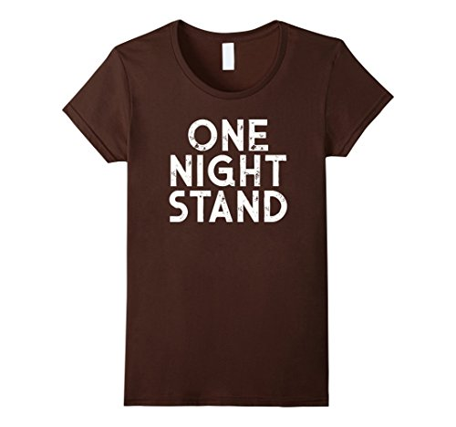 Womens One Night Stand Distressed T-Shirt Halloween Costume Party Large (One Night Stand Costume)
