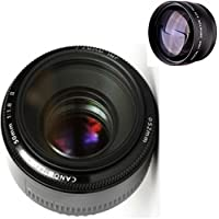 Canon 50mm 1.8 II Lens + High Definition Telephoto Auxiliary Lens