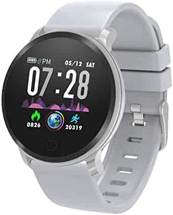moreFit Smart Watch Fitness Tracker,Waterproof Activity Tracker with Heart Rate Monitor,Digital Wrist Watch with Sleep Monitors,Pedometer Stop Watch with Step Calorie Counter for Adult Women Men