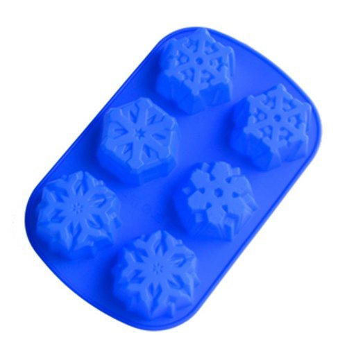 6 Even Snowflakes Silicone Cake Mold ()
