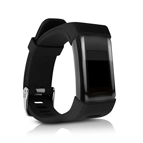 kwmobile Silicone Watch Strap for Garmin Vivosmart HR Plus/Approach X40 - Fitness Tracker Replacement Band - Sports Wristband Bracelet with Clasp