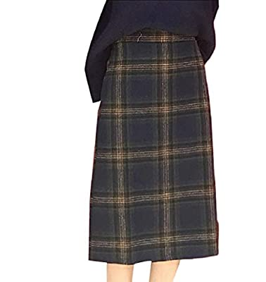Whitive Womens A-line High Waisted Plus Size Winter Plaid Vintage Skirt