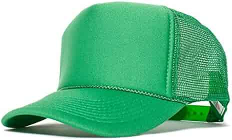 Wholesale Dozen 12 Pcs Green Solid Classic Foam Mesh Trucker Baseball Cap  Hat Snapback  SAAS afb309087816