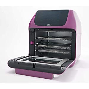 Power XL 10-in-1 1500W 6-qt Pro XLT Air Fryer Oven w/Rotisserie (Amethyst) (Renewed)