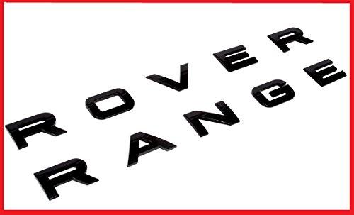 New SET Range Rover Glossy Black Land Rover Range Emblem Logo Badge Letters Hood Trunk (New Emblem)