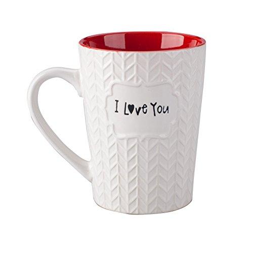 Ynsfree I Love You Mug 16 oz Coffee Tea Cup Gifts for Dad/Father/Mom/Grandma/Ladies/Wife,Birthday/Christmas/Anniversary/Valen