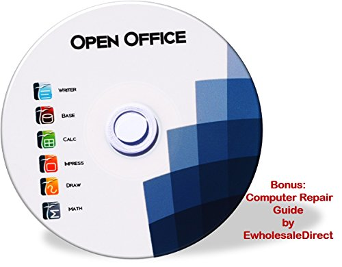 Office Suite CD - Compatible with Microsoft Office - includes 42 page computer guide by ewholesaledirect - Use at Home or Business for Students to Professionals - Runs on Windows 10, 8, 7, Vista and XP. (Excel 2010 Program compare prices)