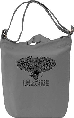 Ornament elephant Borsa Giornaliera Canvas Canvas Day Bag| 100% Premium Cotton Canvas| DTG Printing|