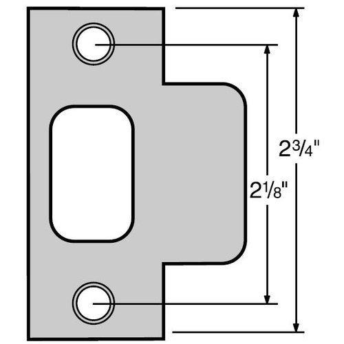 Kwikset 83028-15 Satin Nickel Door T Strike Color: Satin Nickel, Model: 83028-15, Tools & Hardware store