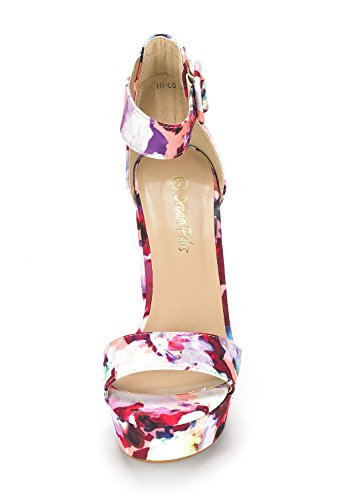 Sandals Wedding Chunky Toe Stiletto Strap High Platform LO Women's Evening PAIRS Pumps HI Dress DREAM Open Floral Heel Ankle wFqTRT
