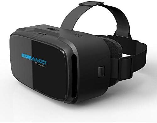 Koramzi VR 3Dメガネバーチャルリアリティヘッドセット/VRゴーグル 4~6インチのスマートフォン iPhone 6s 6 Plus Samsung Galaxyシリーズ用 (ブラック)
