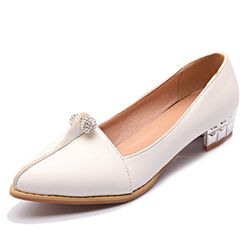 Shoes Metal Large Size Shoes Shoes Pointed Toe Kenavinca Women's Casual Solid Spring 9 34 47 Fashion White Shoes Ballet Female Woman Q1 Flats Yqx4d6