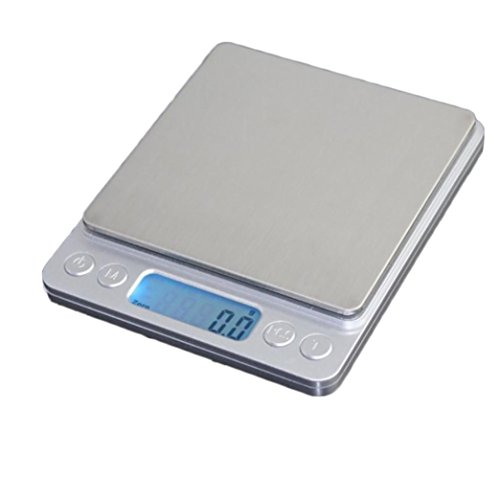 JMung'S Digital Kitchen Scale Portable Electronic Weighing Stainless Steel (Batteries Included)Cooking Food For Home , 1kg/0.1g