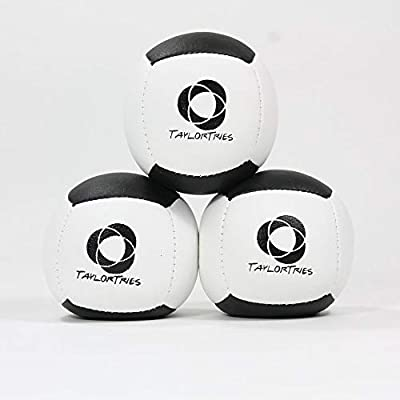 Zeekio Taylor Tries Signature Juggling Ball Set - (3) Beginner 6 Panel Balls: Toys & Games