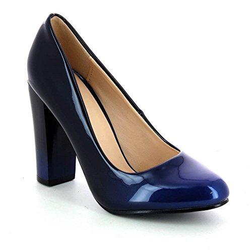 Vestir de Material Tendance de Azul Sintético Zapatos Mujer Go qEtPx