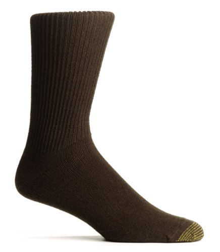 - Gold Toe Men's Fluffies Casual Sock, Brown, 10-13 (Shoe Size 6-12.5)