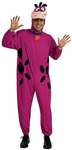 Rubie's Costume Co Men's The Flintstone's Dino The Dinosaur Adult Costume, Purple, One Size