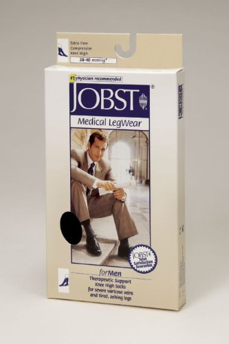 Jobst for Men Knee High Compression Socks - 30-40mmHg - Navy - X-Large - 115115 ()