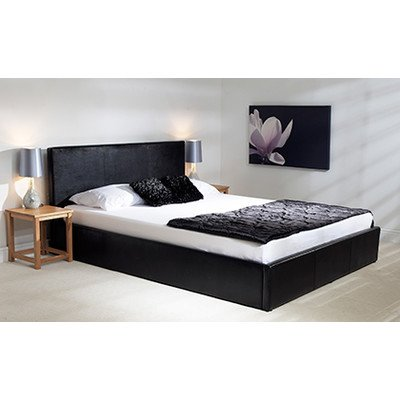 Fabulous Madrid Ottoman Bed Colour Black Size Super King Theyellowbook Wood Chair Design Ideas Theyellowbookinfo
