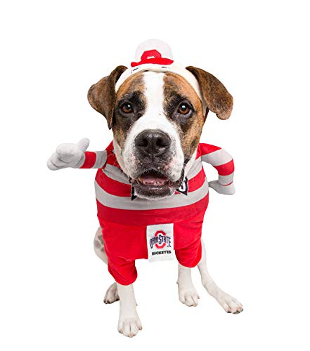 Brutus The Buckeye Lucky Dog Pet Costume, Large ()