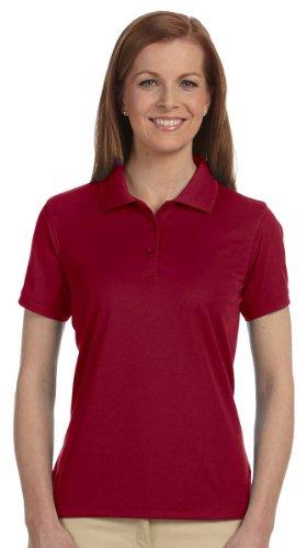 Devon & Jones Ladies' Dri-Fast Advantage Solid Mesh Polo L Crimson