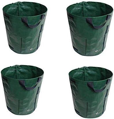 GXHGRASS 4-Pack Doppel-Mouth Kartoffellege Bag, 10 Gallonen, mit Doppelkanalöffnung, PE Material, 35 * 45 cm, für Wachstum und Ernte Kartoffeln
