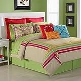 Fiesta 4 Piece Salaya Comforter Set - Queen - with Coordinating Bed Skirt & 2 Pillow Shams