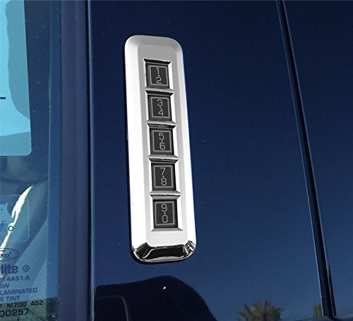 Razer Auto Truck Pillar Post Keypad Triple Chrome Plated Trim Cover (Chrome) for 2015-2016 Ford ()
