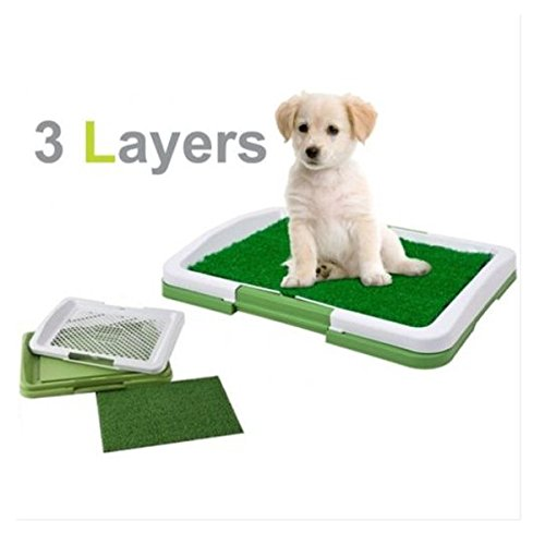3 Layer Pet Dog Potty Toilet Training Pad Tray Mat Grass Lawn