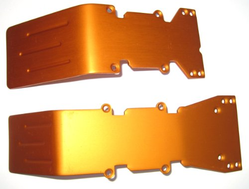 T-Maxx, E-Maxx Orange Anodized Aluminum skid plate set (Anodized Skid Plate)
