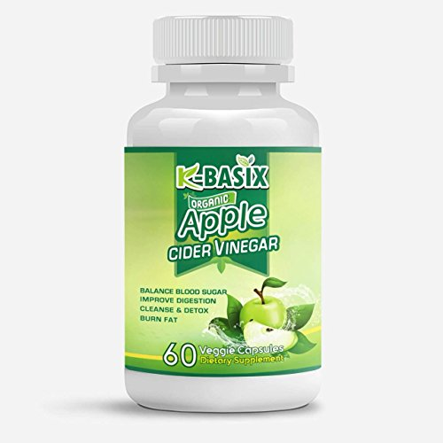 Apple cider Vinegar Pills 800mg – 100% Natural & Pure – Organic support for Weight Loss, Detox & Digestion – 1 Month Supply by K Basix Review