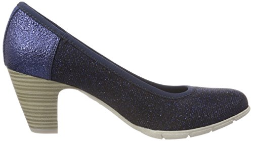 Glam 22405 navy S Closed toe Blue Pumps oliver Women''s ffq8wT6A