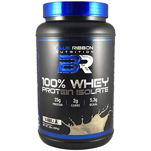 ISO PRO, Premium 100% Whey Protein Isolate Powder, High-Quality Cold-Processed Protein sourced in The USA. 25g Protein per Serving, 5.3g Naturally Occurring BCAAs - 30 Servings - Vanilla.