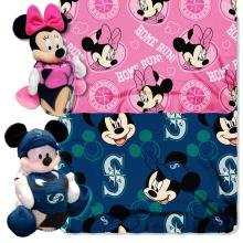 Northwest Seattle Mariners Mlb Mickey And Minnie Mouse Throw Combo