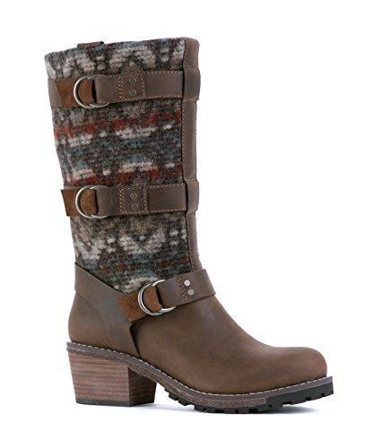 Woolrich Womens Yukon Junction Boots, Chocolate (brown), Maat 10