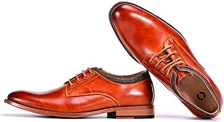 WMZQW Zapatos de Vestir Cuero Los Hombres Ata Para Arriba Los Zapatos Oxford Brogues Patente Smoking de La Boda de Cuero Derby Brogue Zapatos de Cuero del Negocio