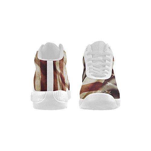 D-story Grunge Amerikanska Flaggan Basketskor Löparskor Ökar Sneakers