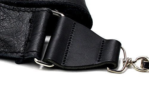 Soft Leather Clip-On Hook Banjo Strap - Black by 1To1Music (Image #1)