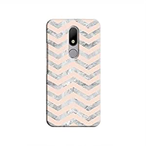 Cover It Up - Silver Pink Tri Stripes Moto M Hard case