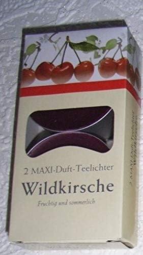 Maxi Teelicht 2 er Wildkirsche