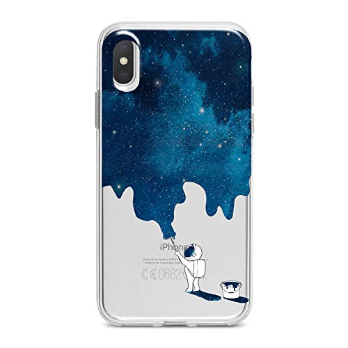 - Lex Altern TPU Case for iPhone Apple Xs Max Xr 10 X 8+ 7 6s 6 SE 5s 5 Clear Blue Watercolor Space Graphic Cover Print Cool Pattern Protective Design Women Soft Silicone Transparent Flexible Present