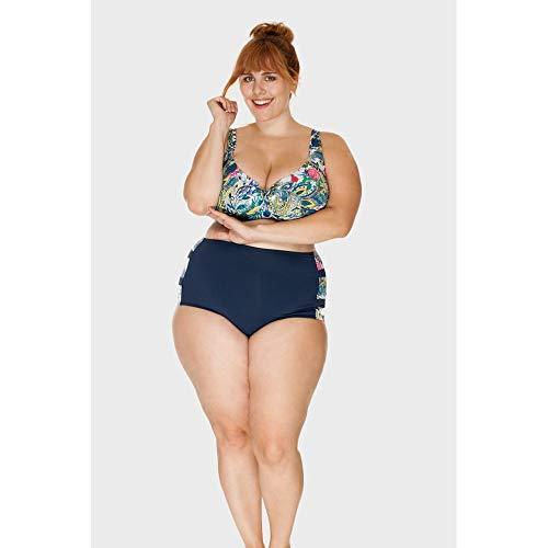 Parte De Baixo - Tanga Plus Size Lorraine Cashmere Marinho-56